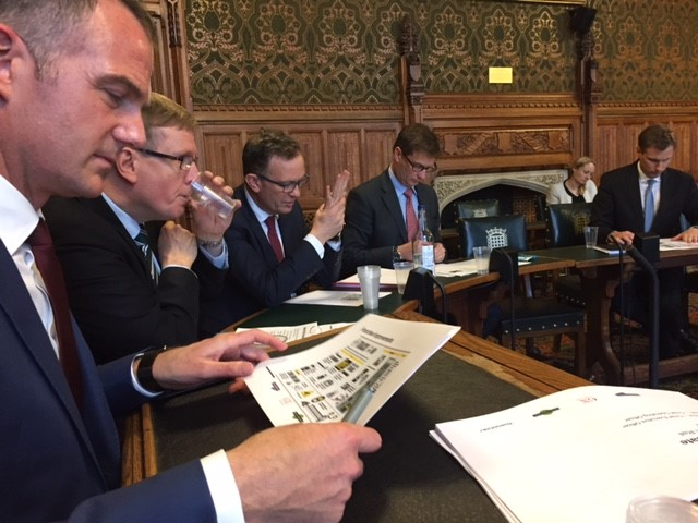 Sir Nicholas Soames and Dr Peter Kyle Co-Chairing a meeting of the APPG on Southern Railway