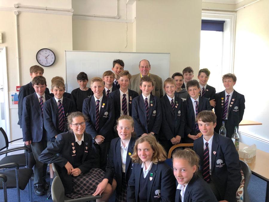 Sir Nicholas Soames MP visits Great Walstead School in Lindfield