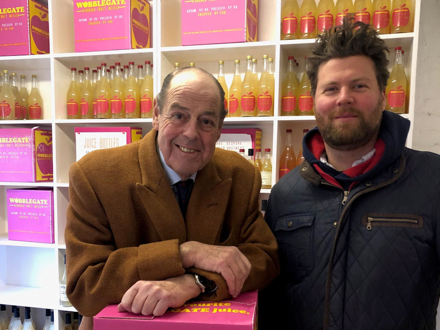 Sir Nicholas visiting Tom Stephens at Wobblegate in Bolney on Friday, 18th January, 2019.