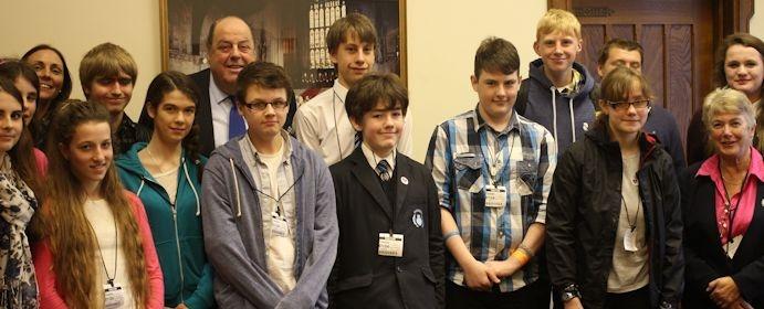 STUDENTS VISIT PARLIAMENT | Sir Nicholas Soames - Member of