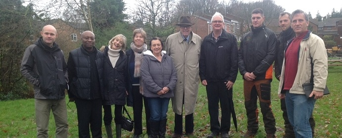 Sir Nicholas donates trees to the local community in Priory Way in Haywards Heath.