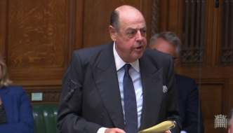Rt Hon Sir Nicholas Soames MP speaking in the House of Commons, September 2019