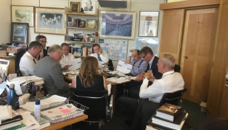 Sir Nicholas and Peter Kyle MP, Joint Chair of the APPG on Southern Rail, hosting a meeting of the Group with the Management of GTR and Network Rail. House of Commons, Wednesday, 17th July, 2019.