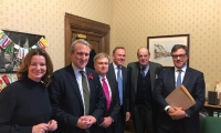 Sir Nicholas Soames and West Sussex MPs meet with Secretary of State for Education; Damian Hinds MP