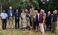 Sir Nicholas Soames opening Greenaway Residential Estate Agency in East Grinstead